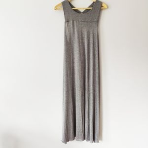 Free People Beach Gray Flowy Cover Up Dress